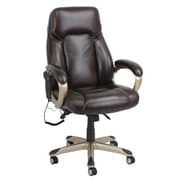 Global Office Furniture Bonded Leather Shiatsu Massage Executive Chair Black Painted Arms with Arm Pads (9532H-MA)