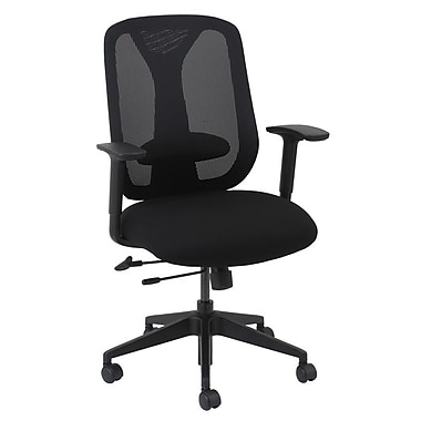 Barcalounger Office Furniture Mesh Executive Chair Black Embossed Adjustable Arms with Pads (50112M-MA)