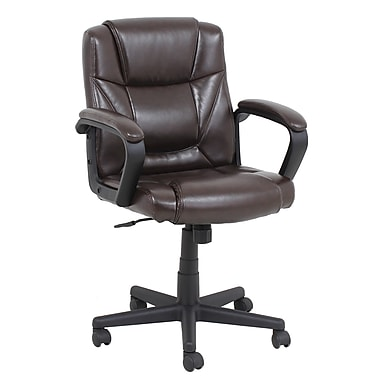 Barcalounger Office Furniture Polyurethane and PVC Manager Chair Brown Embossed Arms with Pads (9002M-MA)