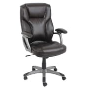 Barcalounger Office Furniture Bonded Leather and PVC Big & Tall Executive Chair Brown Silver Painted Arms (9527H-2-MA)