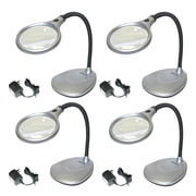 4 Pack Carson Lm-20 Deskbrite200 2x Led Magnifying Lamp With 5x Spot Lens