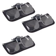 3 Pack Carson Cf-10 1.5x Clip-on, Flip-up Magnifying Lenses For Eyeglasses