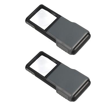 2 Pack Carson Po-55 Minibrite Pocket Magnifier