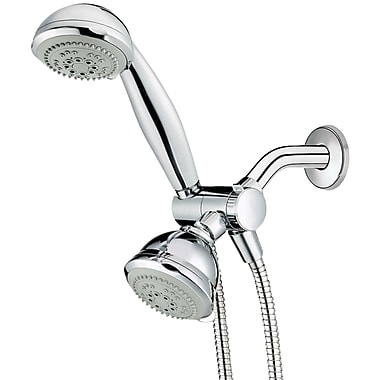 Conair Chcc1 6-setting Combination Showerhead Set With Microban Protection