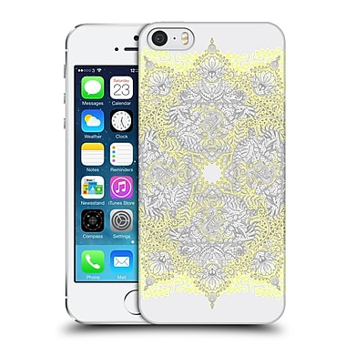 Official Micklyn Le Feuvre Mandala 3 Sunny Doodle In Yellow And Grey Hard Back Case For Apple Iphone 5 / 5S / Se
