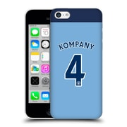 Official Manchester City Man City Fc Player Home Kit 2016/17 Group 1 Kompany Hard Back Case For Apple Iphone 5C