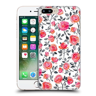 Official Micklyn Le Feuvre Florals Roses On White Hard Back Case For Apple Iphone 7 Plus