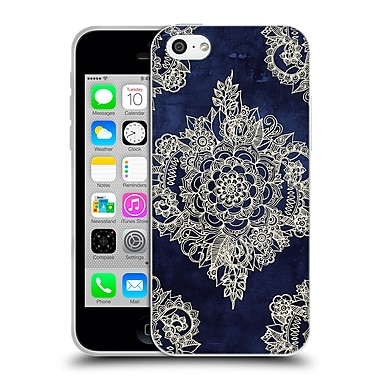 Official Micklyn Le Feuvre Doodle Patterns Cream Floral Moroccan Soft Gel Case For Apple Iphone 5C