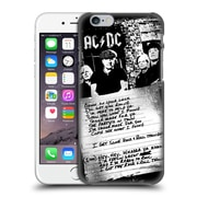 Official Ac/Dc Acdc Lyrics Got Some Rock And Roll Thunder Hard Back Case For Apple Iphone 6 / 6S