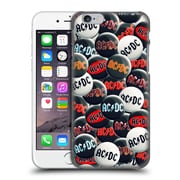 Official Ac/Dc Acdc Button Pins Black And White Hard Back Case For Apple Iphone 6 / 6S