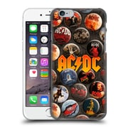 Official Ac/Dc Acdc Button Pins Logo Hard Back Case For Apple Iphone 6 / 6S