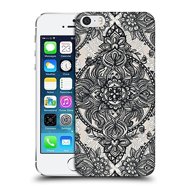 Official Micklyn Le Feuvre Mandala 3 Charcoal Lace Pencil Doodle Hard Back Case For Apple Iphone 5 / 5S / Se