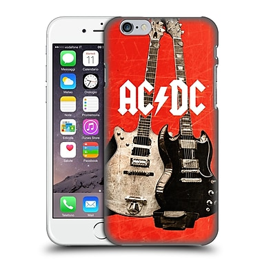 Official Ac/Dc Acdc Iconic Rock Guitars Hard Back Case For Apple Iphone 6 / 6S