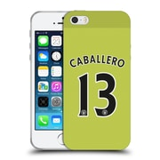 Official Manchester City Man City Fc Away Kit 2016/17 1 Caballero Soft Gel Case For Apple Iphone 5 / 5S / Se
