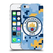 Official Manchester City Man City Fc Digital Camouflage Club Soft Gel Case For Apple Iphone 5 / 5S / Se