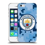 Official Manchester City Man City Fc Digital Camouflage Bluemoon Soft Gel Case For Apple Iphone 5 / 5S / Se