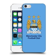 Official Manchester City Man City Fc Crest Full Colour Sky Blue Hard Back Case For Apple Iphone 5 / 5S / Se