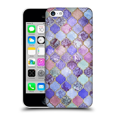 Official Micklyn Le Feuvre Moroccan Decorative Purple Hard Back Case For Apple Iphone 5C