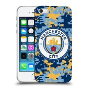 Official Manchester City Man City Fc Digital Camouflage Brick Club Soft Gel Case For Apple Iphone 5 / 5S / Se