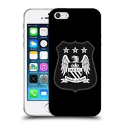 Official Manchester City Man City Fc Crest Kit Mono White Soft Gel Case For Apple Iphone 5 / 5S / Se