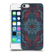 Official Micklyn Le Feuvre Mandala Fancy Navy Blue And Red Hard Back Case For Apple Iphone 5 / 5S / Se