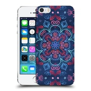 Official Micklyn Le Feuvre Mandala Cherry Red And Navy Blue Hard Back Case For Apple Iphone 5 / 5S / Se