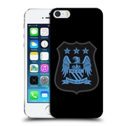 Official Manchester City Man City Fc Crest Kit Mono Blue Hard Back Case For Apple Iphone 5 / 5S / Se