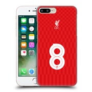 Official Liverpool Football Club Shirt Home Shirt Red No 8 Hard Back Case For Apple Iphone 7 Plus