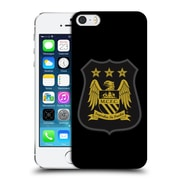 Official Manchester City Man City Fc Crest Kit Mono Gold Hard Back Case For Apple Iphone 5 / 5S / Se