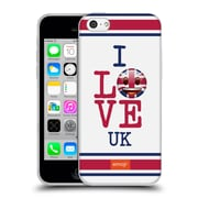 Official Emoji I Love My Country Uk Soft Gel Case For Apple Iphone 5C