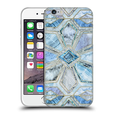Official Micklyn Le Feuvre Marble Patterns Geometric Gilded Stone Tiles In Soft Blues Soft Gel Case For Apple Iphone 6 / 6S