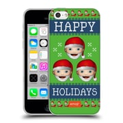 Official Emoji Ugly Christmas Three Santas Soft Gel Case For Apple Iphone 5C