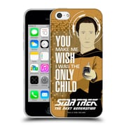 Official Star Trek Iconic Phrases Tng Only Child Data Soft Gel Case For Apple Iphone 5C
