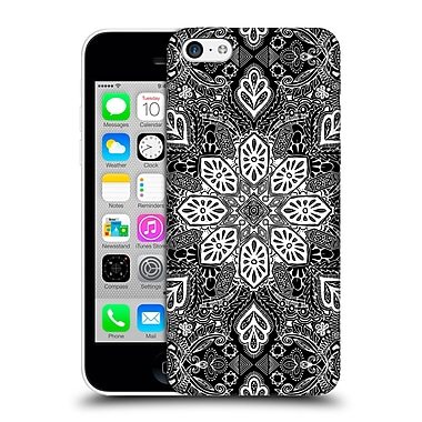 Official Micklyn Le Feuvre Mandala Lace In White On Black Hard Back Case For Apple Iphone 5C