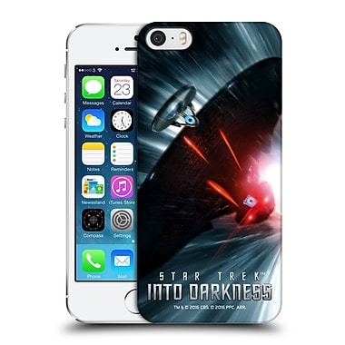 Official Star Trek Posters Into Darkness Xii Starship Warp Chase Hard Back Case For Apple Iphone 5 / 5S / Se