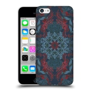 Official Micklyn Le Feuvre Mandala Fancy Navy Blue And Red Hard Back Case For Apple Iphone 5C