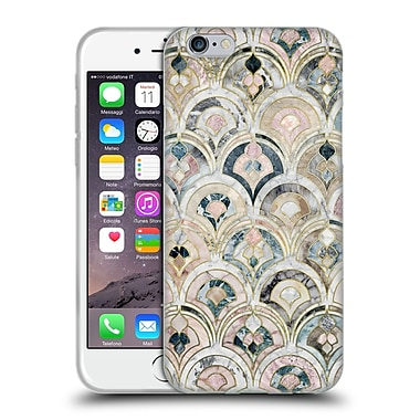 Official Micklyn Le Feuvre Marble Patterns Art Deco Tiles In Soft Pastels Soft Gel Case For Apple Iphone 6 / 6S