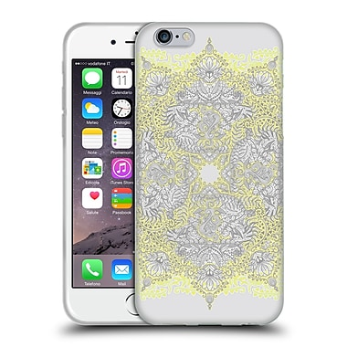 Official Micklyn Le Feuvre Mandala 3 Sunny Doodle In Yellow And Grey Soft Gel Case For Apple Iphone 6 / 6S