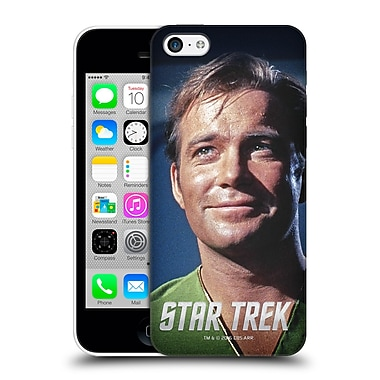 Official Star Trek Embossed Captain Kirk Smile Hard Back Case For Apple Iphone 5C