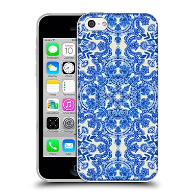 Official Micklyn Le Feuvre Floral Patterns Cobalt Blue And China White Soft Gel Case For Apple Iphone 5C