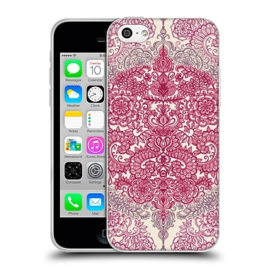 Official Micklyn Le Feuvre Floral Patterns Berry Pink Cream And Mauve Soft Gel Case For Apple Iphone 5C