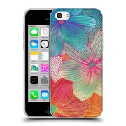 Official Micklyn Le Feuvre Florals 2 Tropical Flowers In Pink Orange Soft Gel Case For Apple Iphone 5C