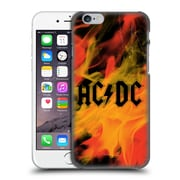 Official Ac/Dc Acdc Logo Flame Hard Back Case For Apple Iphone 6 / 6S