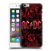Official Ac/Dc Acdc Logo Ornate Red Hard Back Case For Apple Iphone 6 / 6S