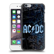 Official Ac/Dc Acdc Logo Lyrics Hard Back Case For Apple Iphone 6 / 6S