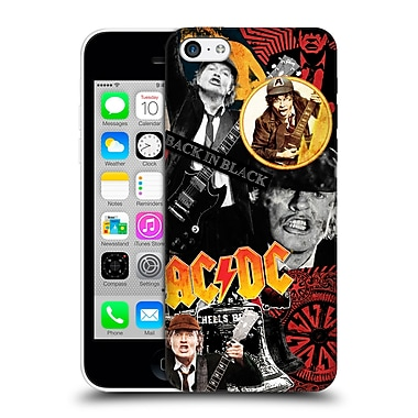 Official Ac/Dc Acdc Collage Angus Young Hard Back Case For Apple Iphone 5C