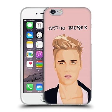 Official Justin Bieber Justmojis Pink Soft Gel Case For Apple Iphone 6 / 6S