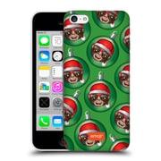 Official Emoji Christmas Patterns Monkey Baubles Hard Back Case For Apple Iphone 5C