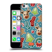 Official Emoji Christmas Patterns Cutouts Hard Back Case For Apple Iphone 5C