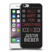 Official Justin Bieber Knitted Christmas All I Want For Christmas Soft Gel Case For Apple Iphone 6 / 6S